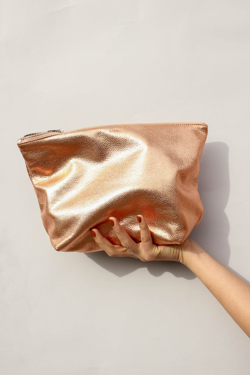 Large Stash Clutch in Copper