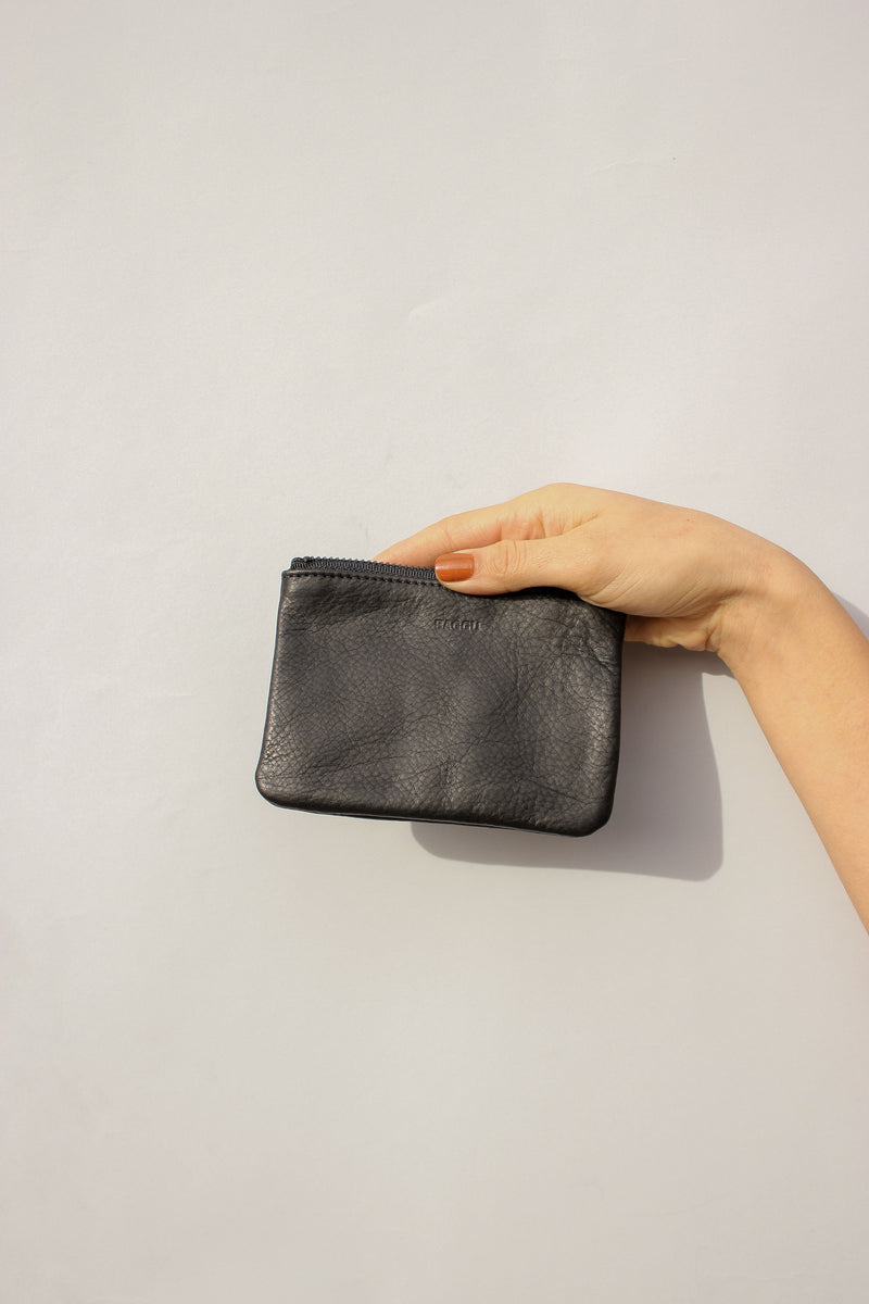 Small Flat Pouch in Black