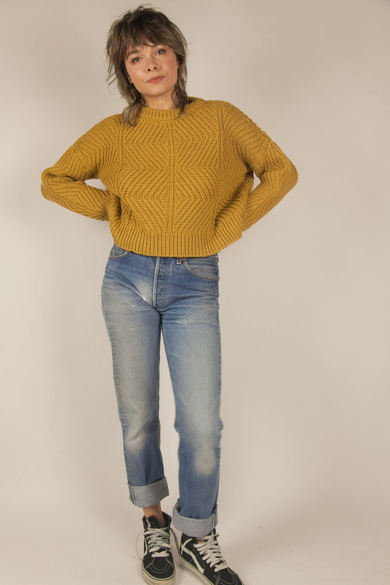 Bevel Sweater in Ochre
