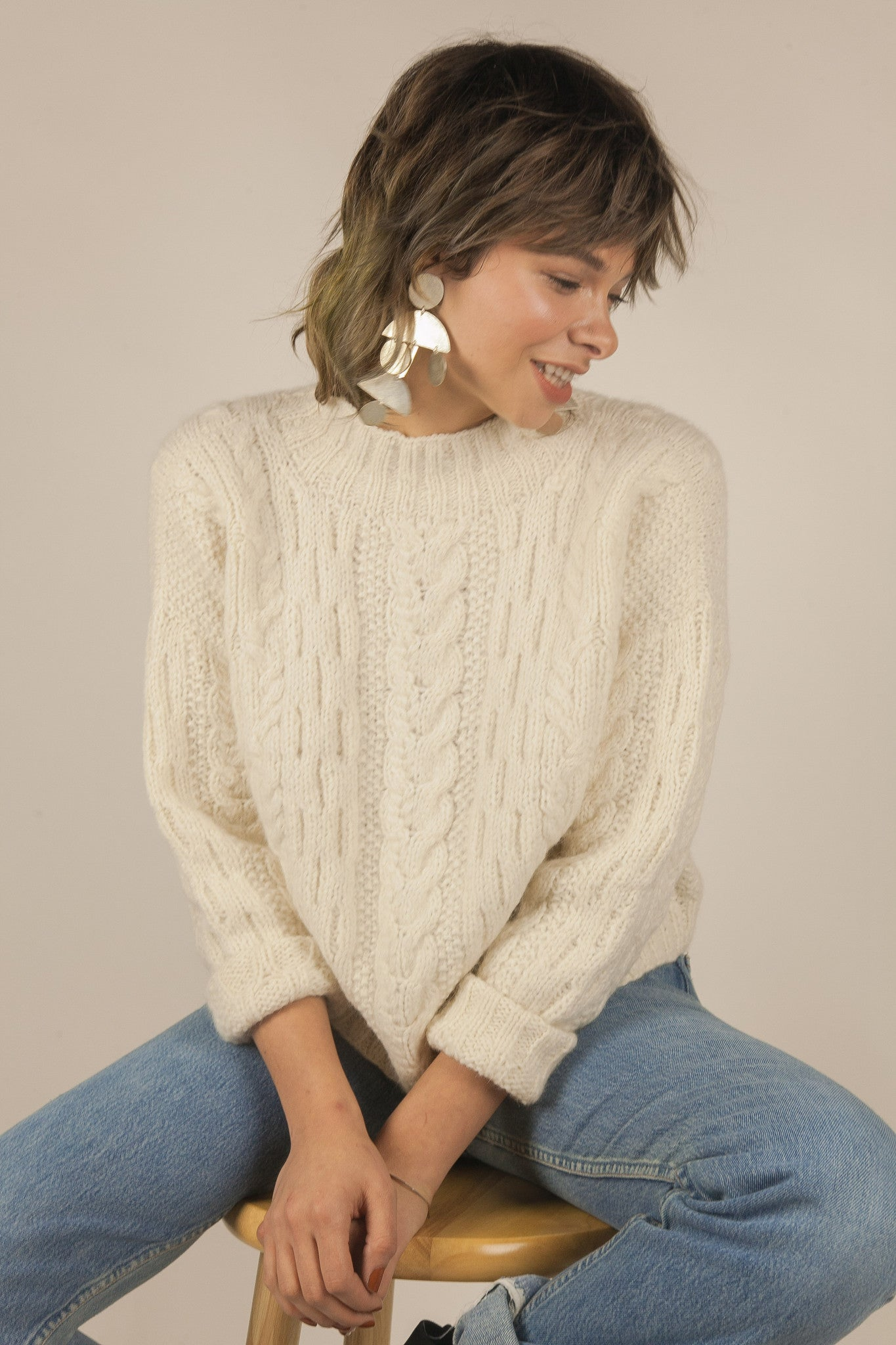 Reese Sweater in Cream