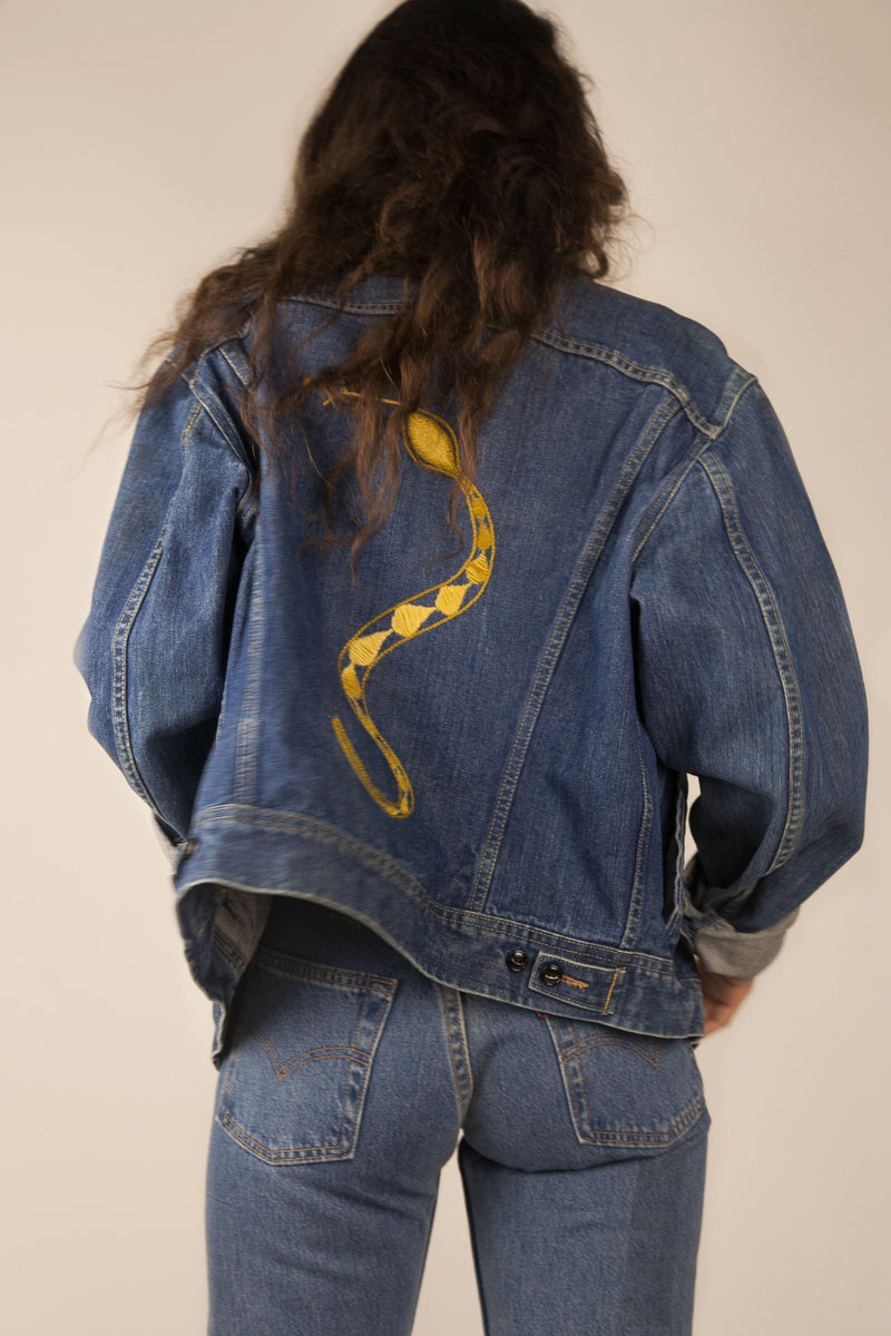 Golden Snake Denim Jacket
