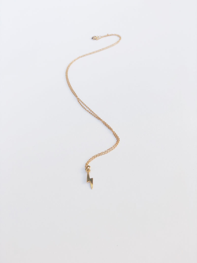 14k Lightning Necklace