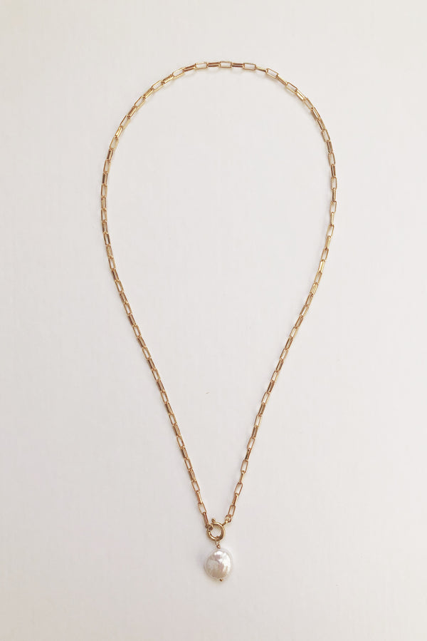 Clasped Pearl Necklace