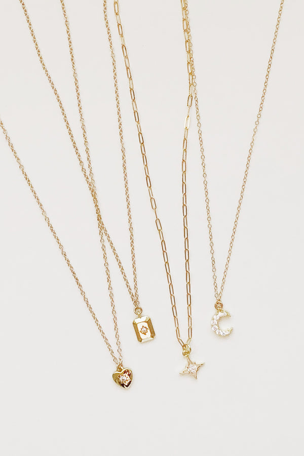 Diamante Charm Necklace