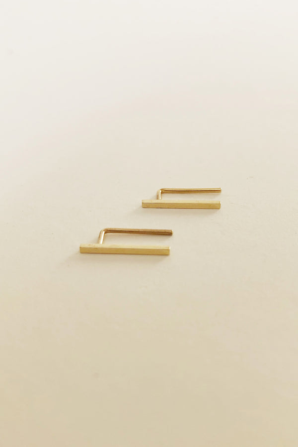 "1/2"" Bar Ear Pin in 14k Gold (Single)"