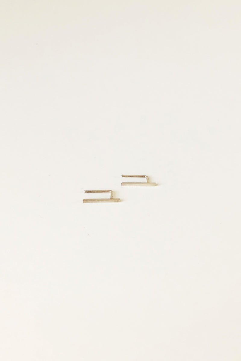 "1/2"" Bar Ear Pin in Silver (Single)"