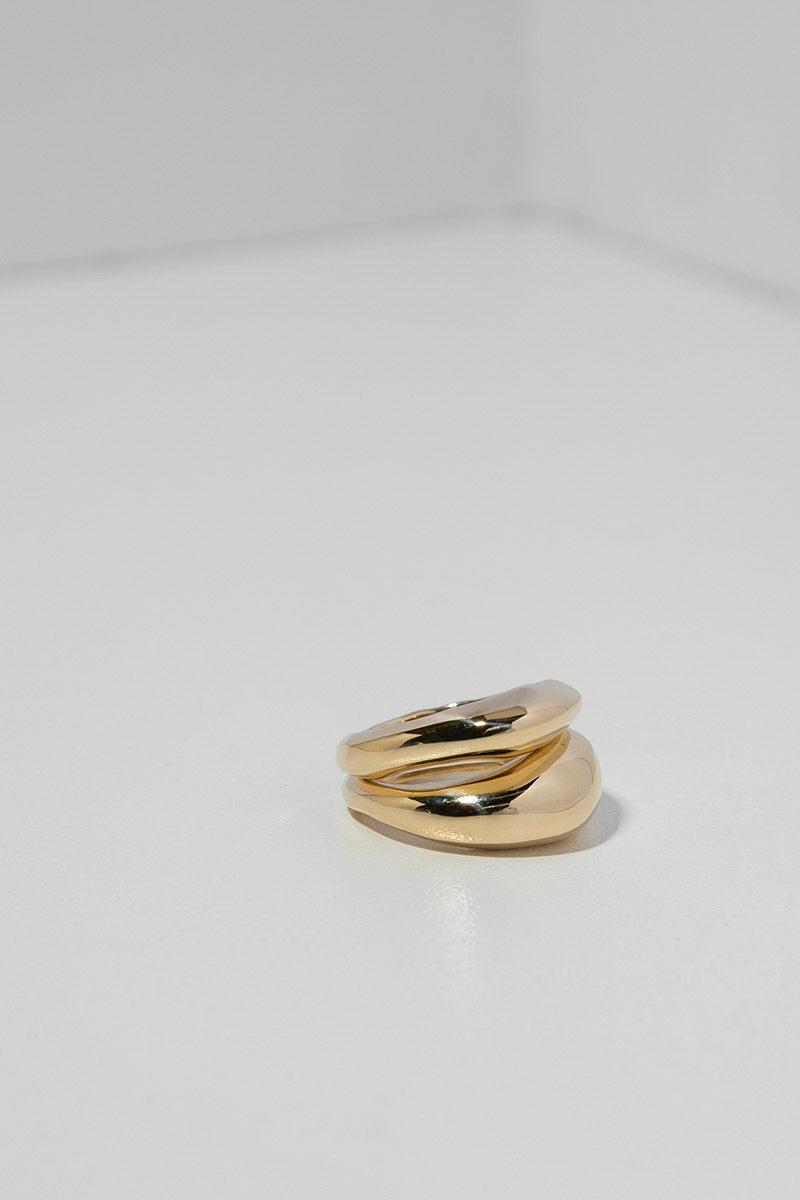 Duet Ring Set in Bronze