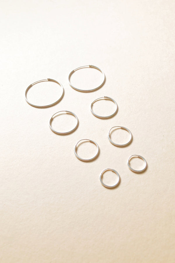 Endless Hoops in Sterling Silver