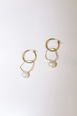 Freeform Pearl Drop Earrings