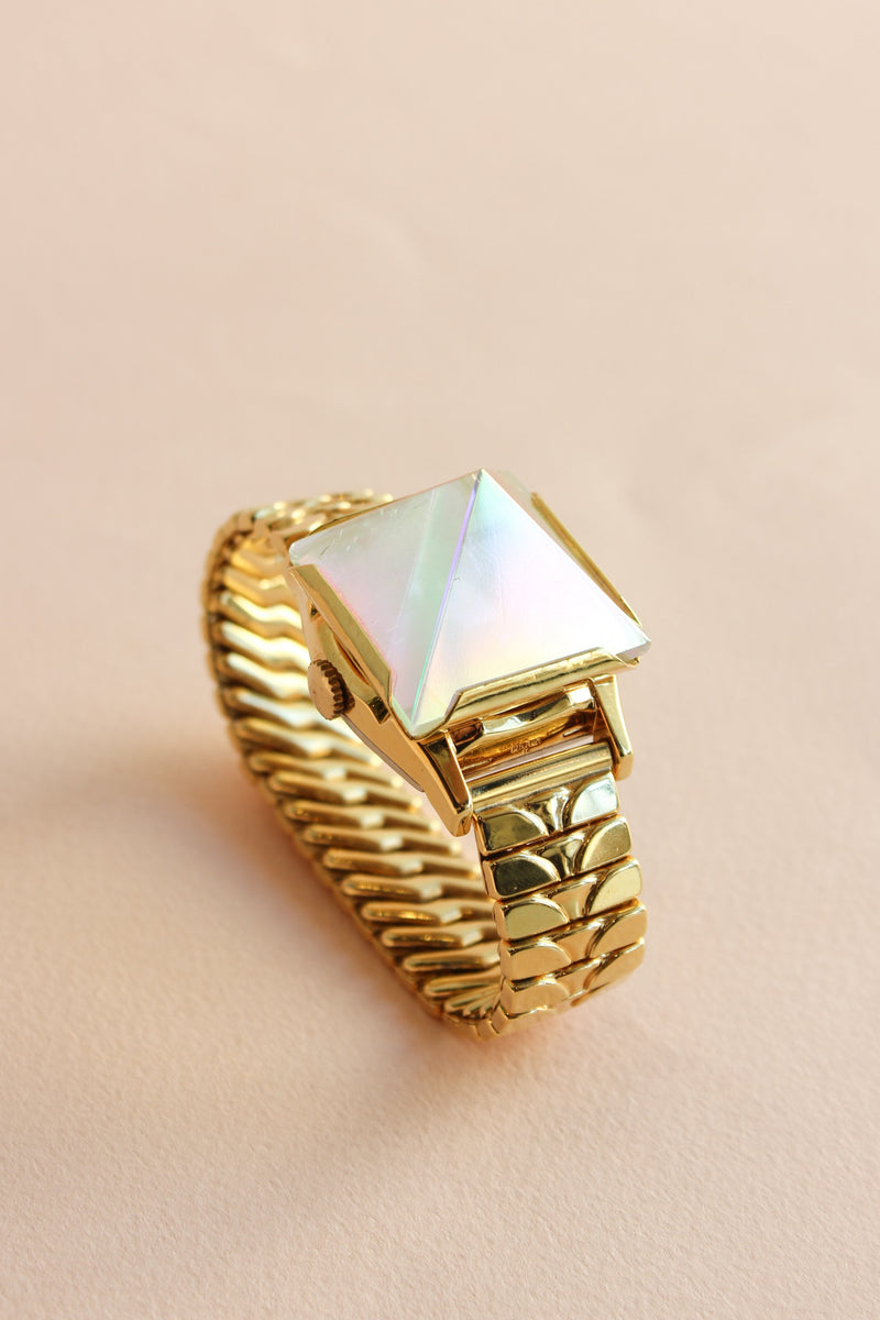 Large Pyramid Watch in Gold