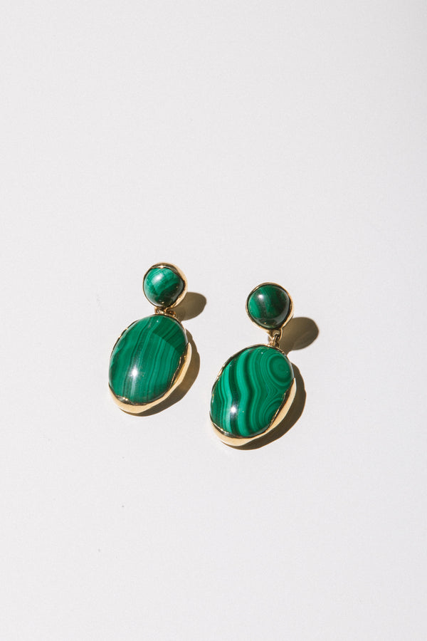 Ovo Drops in Bronze + Malachite