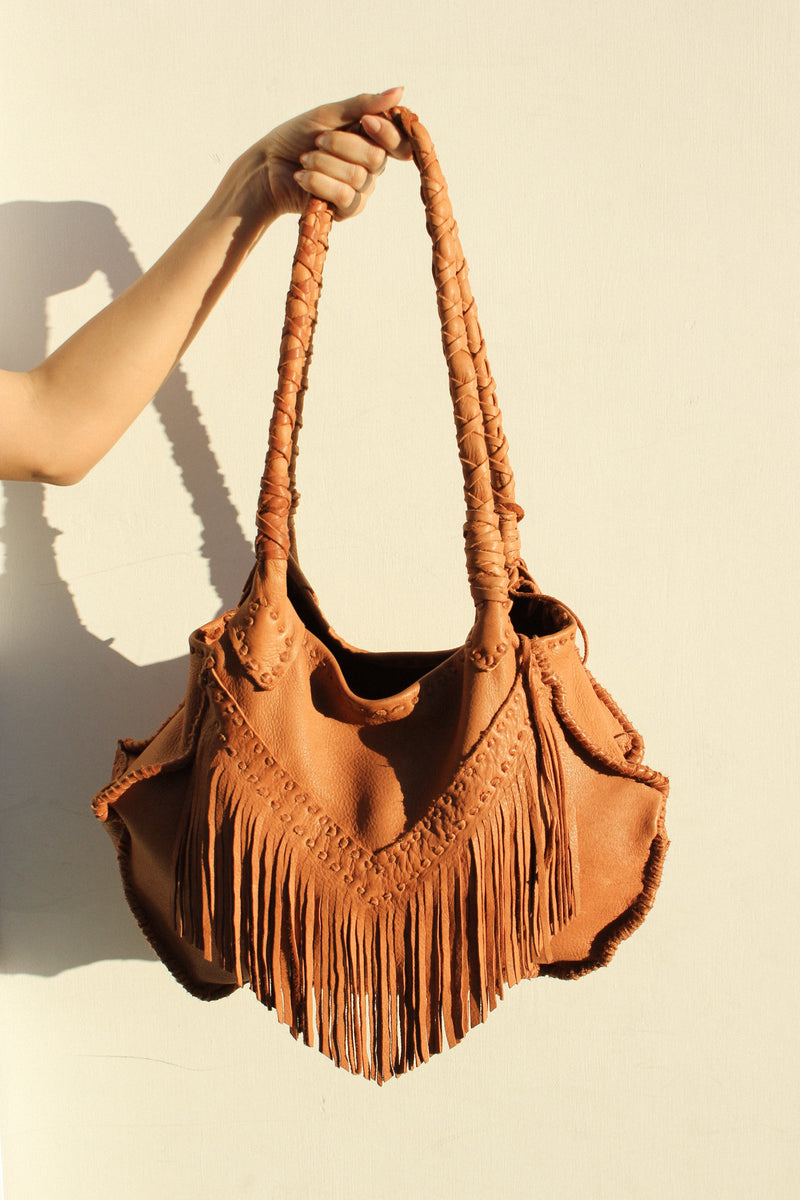 Sequoyah Fringe Bag in Tobacco