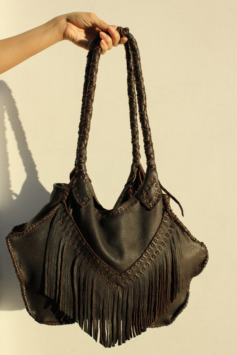 Sequoyah Fringe Bag in Chocolate