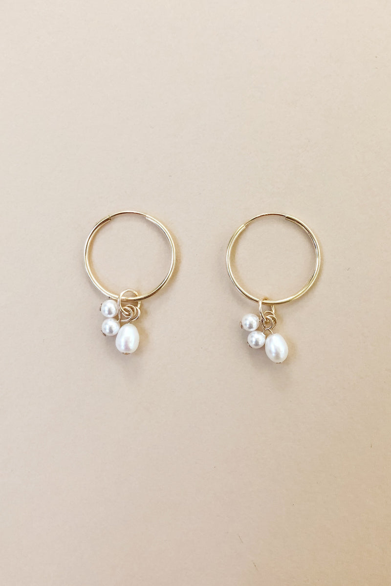 Little Mac Pearl Hoops