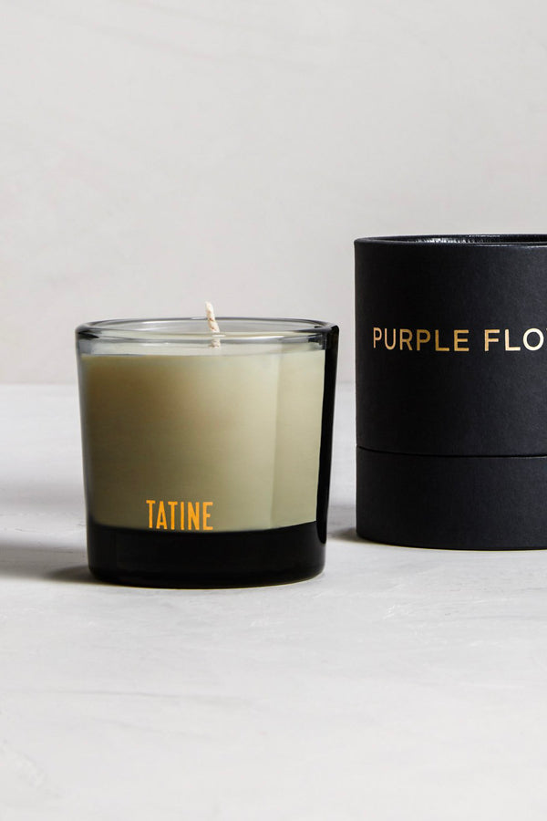 Purple Flowers Candle (Curbside Pickup Only)