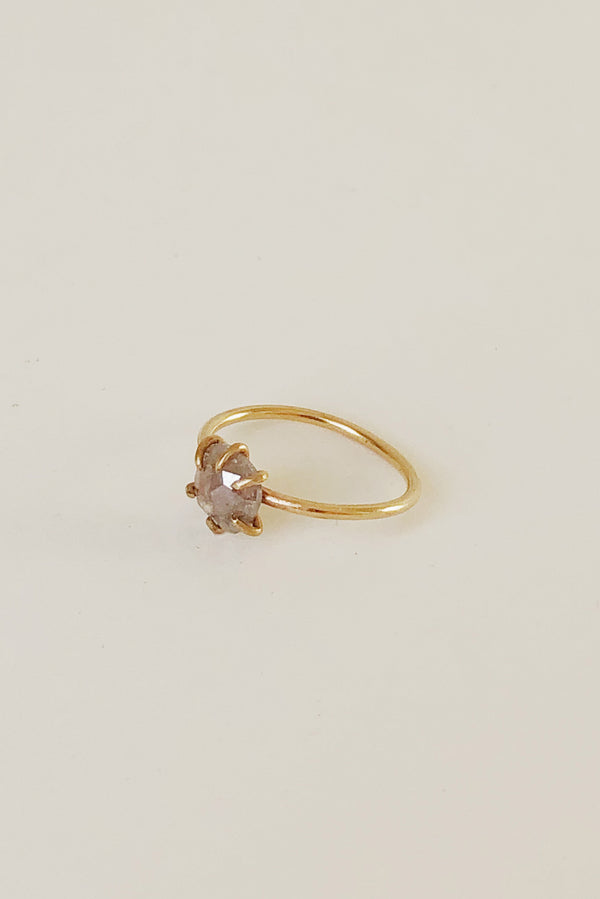 14k Organic Basket Diamond Ring