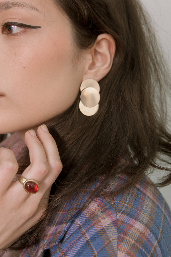 Circular Pendulum Earrings