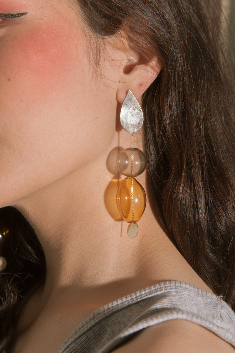 Glassy Drop Earrings