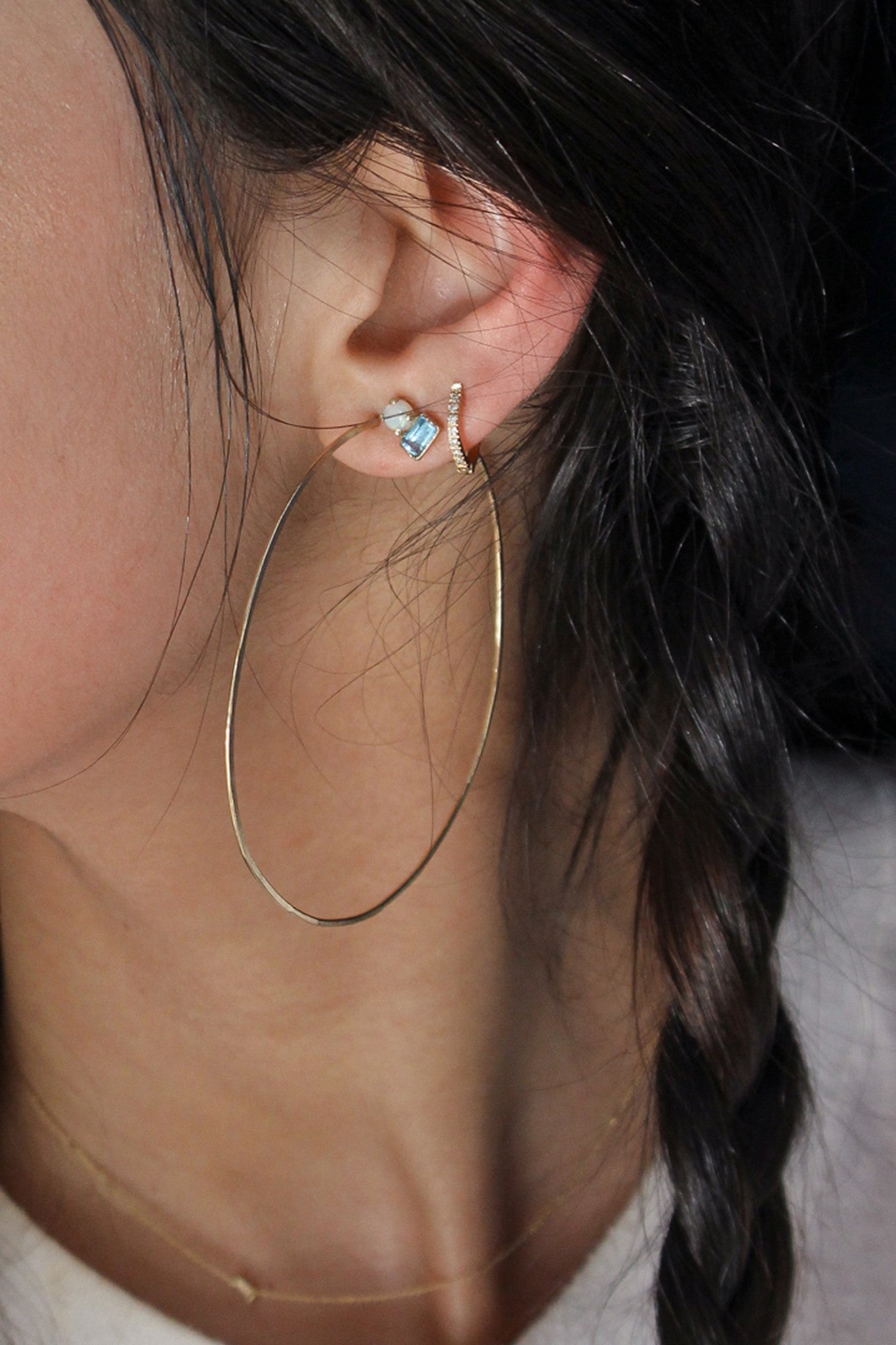 Opal and Topaz Studs