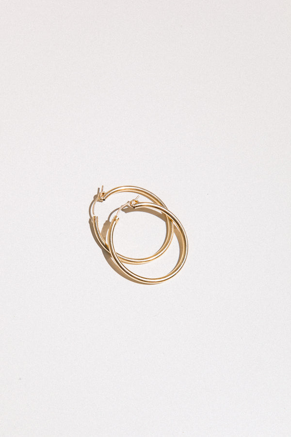 Gold Latch Hoops