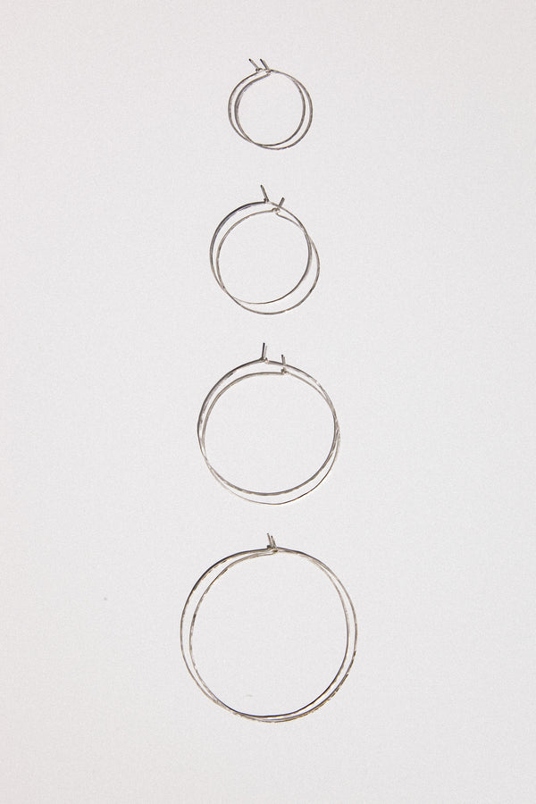 "2.5"" Hammered Hoop Earrings"
