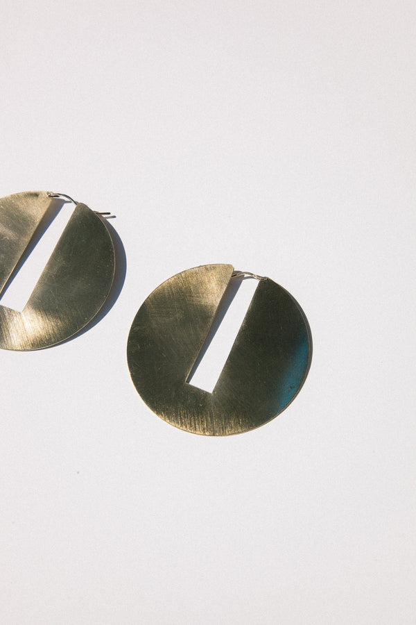 Split Disc Hoops - Brass