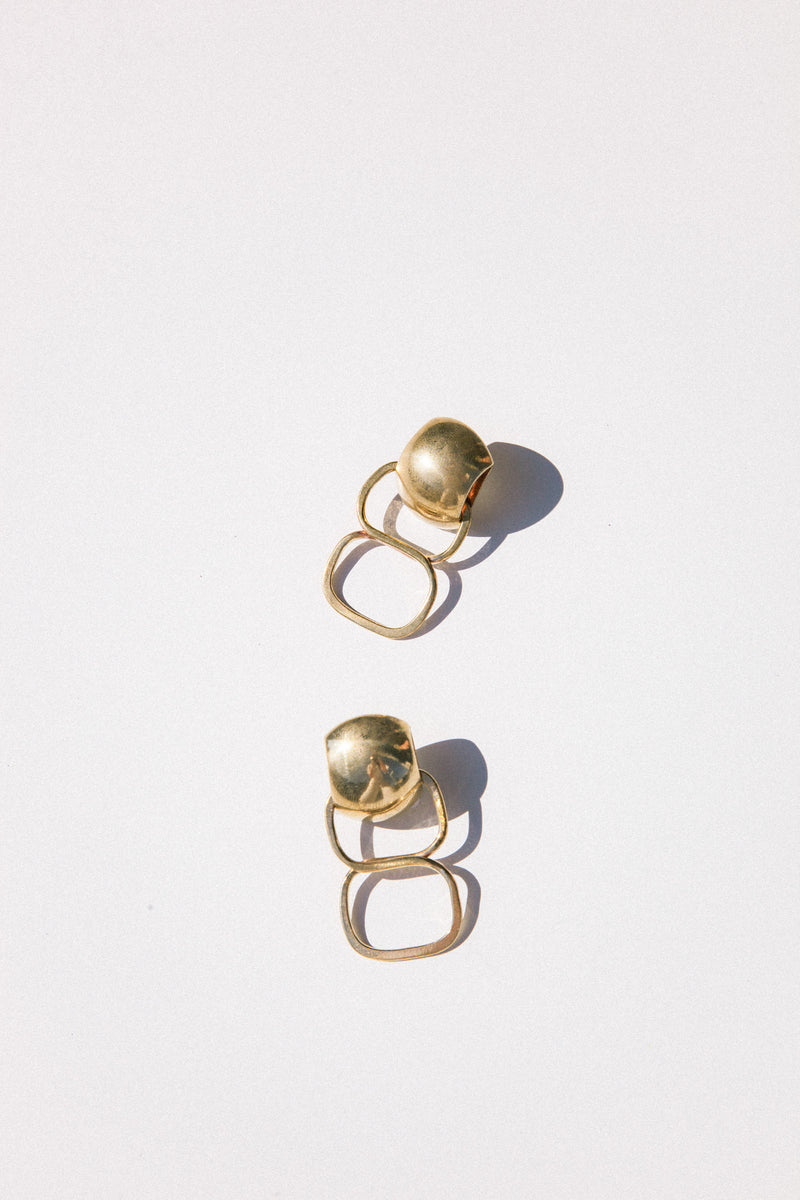 Allegra Earrings - Brass