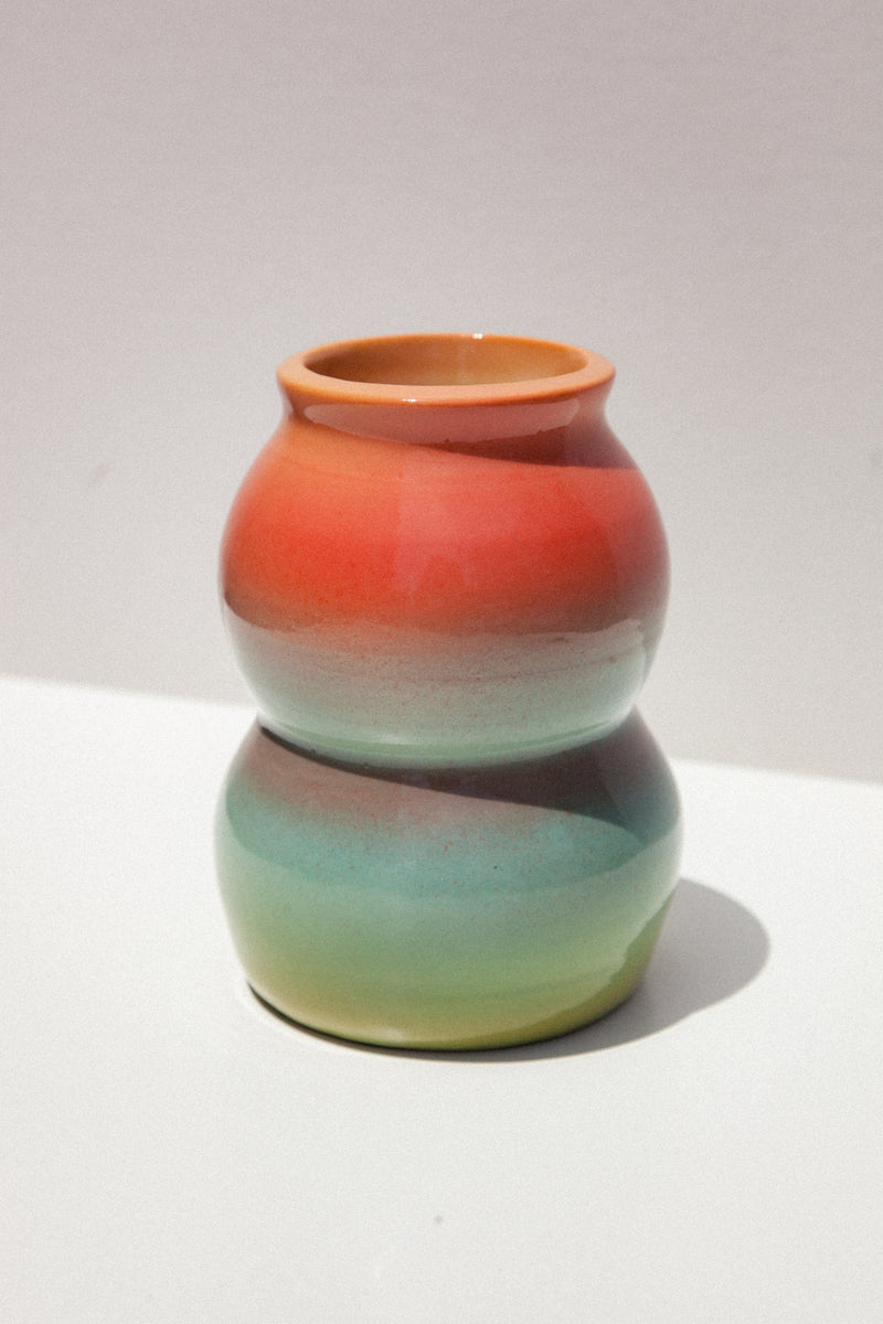 Double Bubble Ceramic Vessel