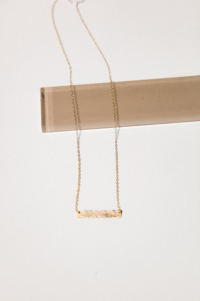 Hammered Nameplate Necklace