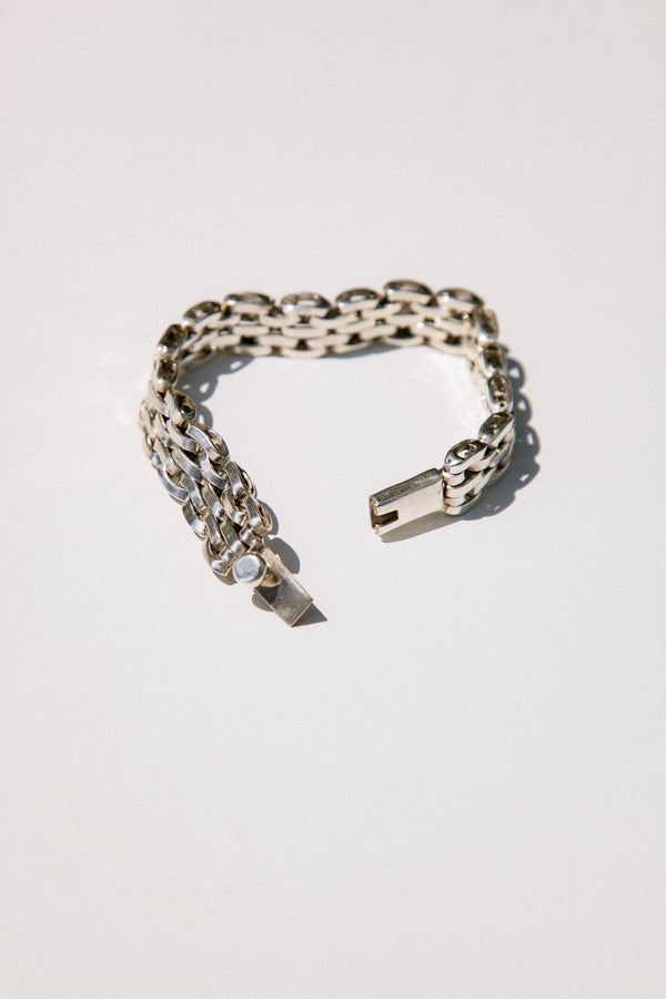 Sterling Silver Mexican Link Bracelet