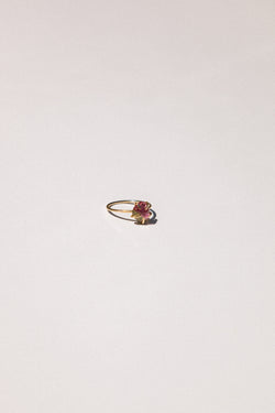 14k Organic Basket Tourmaline Ring
