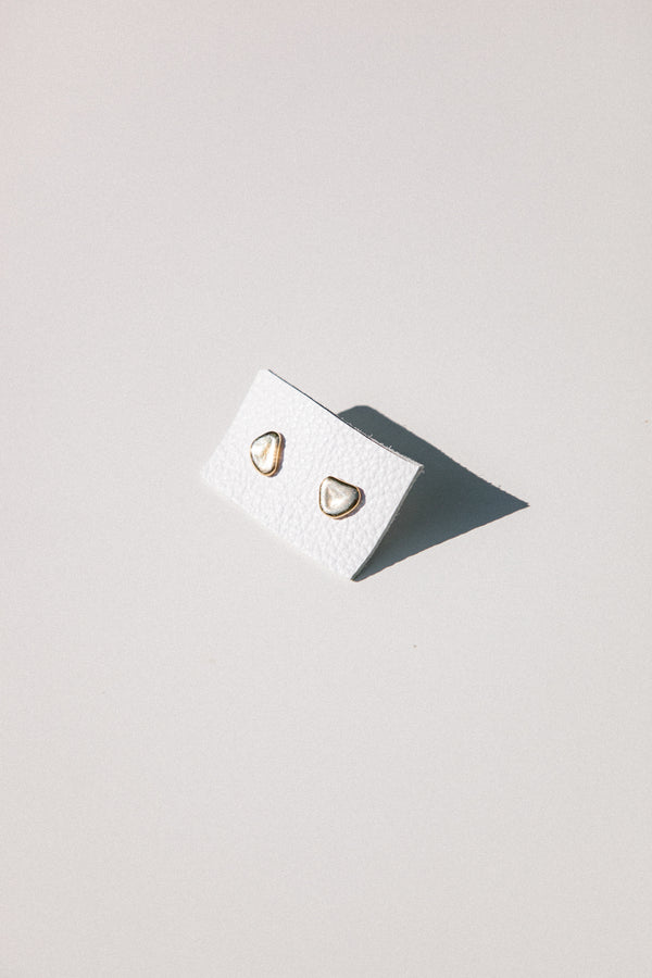 Nugget Studs in 14k Gold