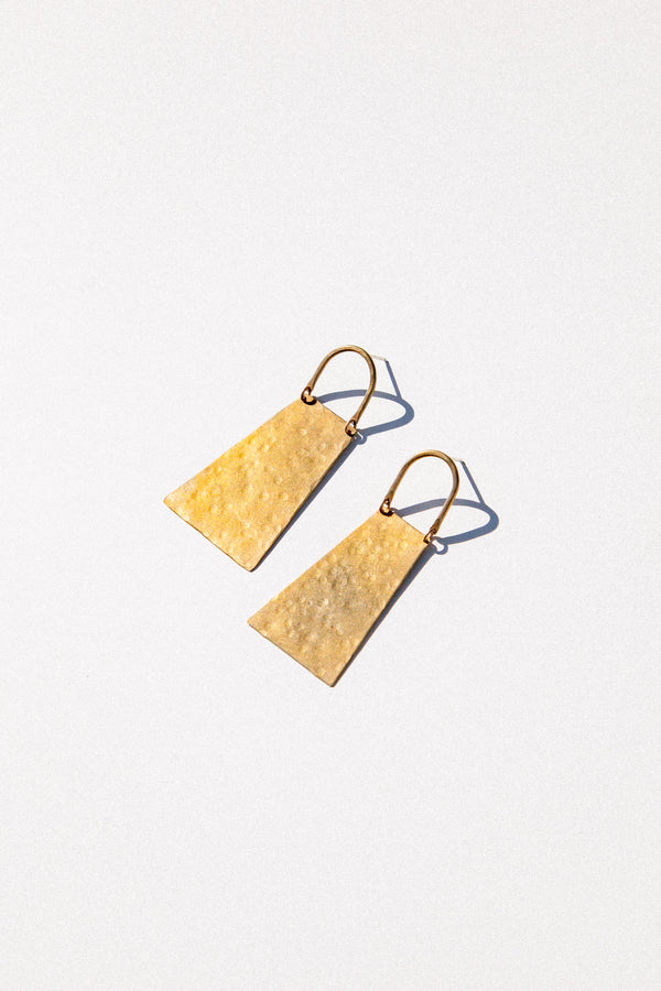 Hammered Cow Bell Earrings