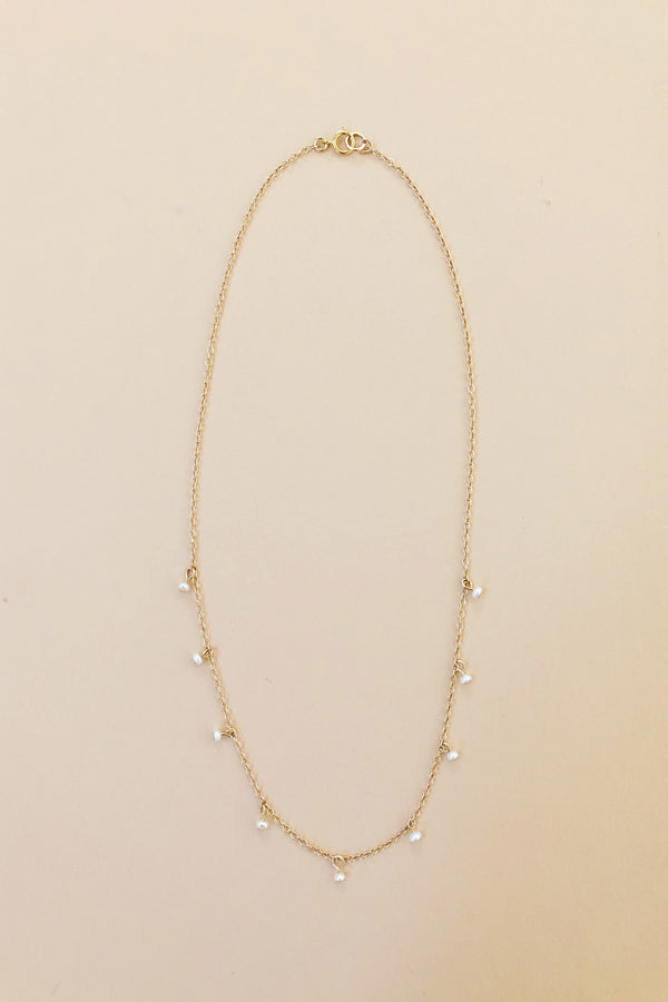 Baby's Breath Pearl Necklace
