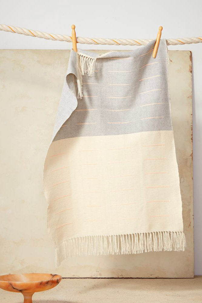 Dash Tea Towel In Peach