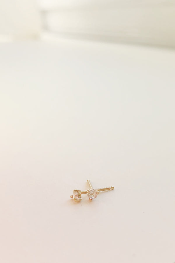 Tiny Neptune Diamond Studs