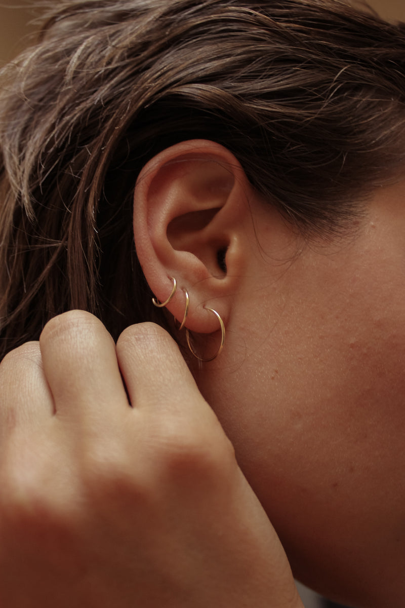 Endless Hoops in 14k Gold