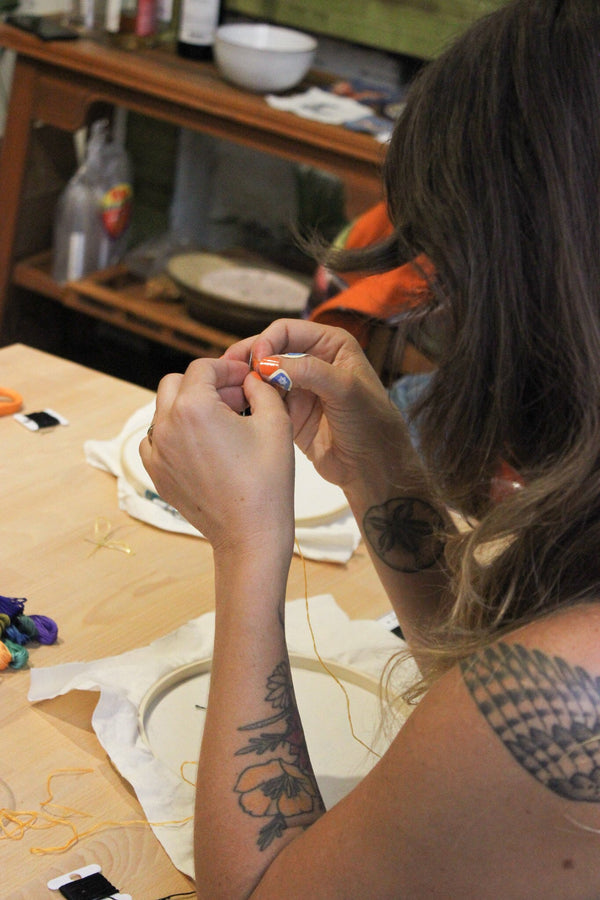 PAST: Beginning Hand Embroidery Workshop: Monday, 10/16