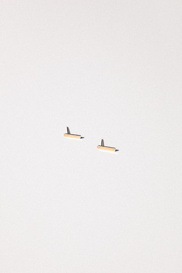 "Gold Fill Matchstick 1"" Bar Earring"