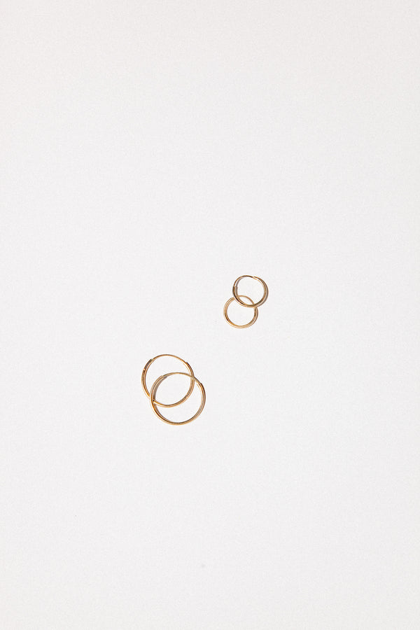 Endless Hoops in 14k Gold (Single)