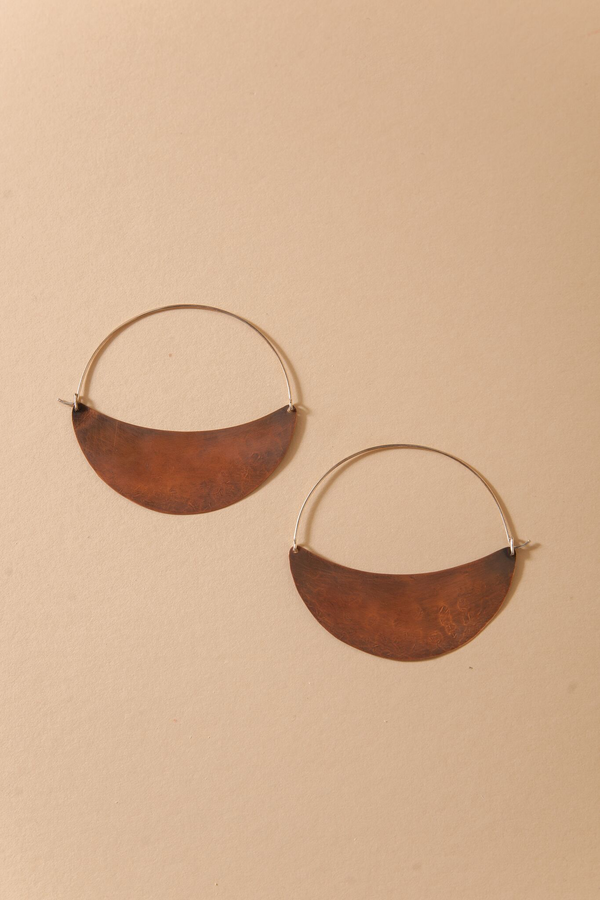 Crescent Hoops - Copper