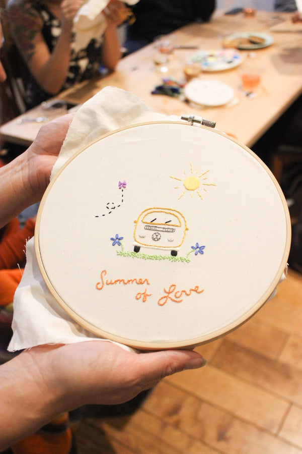 PAST: Beginning Hand Embroidery Workshop: Monday, 5/14