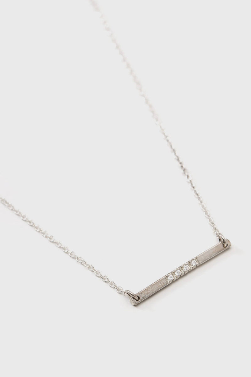 4 Diamond Baby Bar Necklace