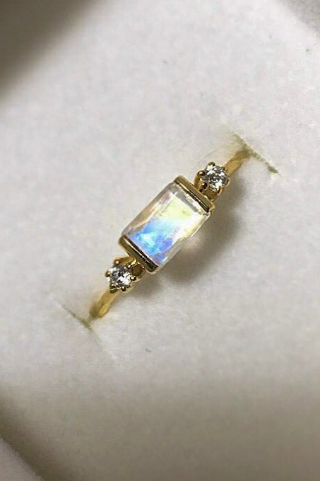 Gold Vermeil Moonstone Sky Ring