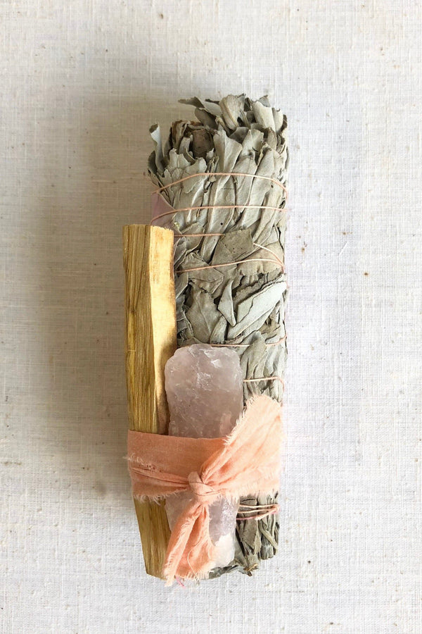 Large Rose Quartz Smudge Bundle
