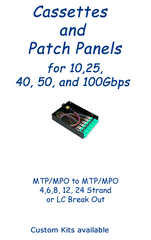 Fiber Optic Patch Panels and Fiber Ribbon Cassettes for MTP/MPO, LC, SC, ST