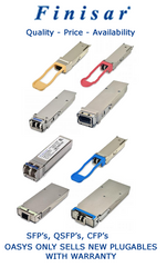 Make OASYS your Supplier for Finisar SFP's, QSFP's, CFP's