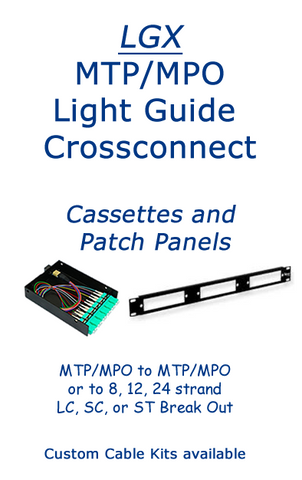 MTP/MPO multi-strand breakout and crossconnect