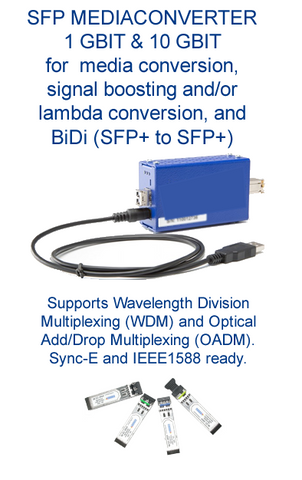 Media-Conv-10G conversion and signal boosting - 1Gbps, 10Gbps, lambda, BiDi, WDM, OADM