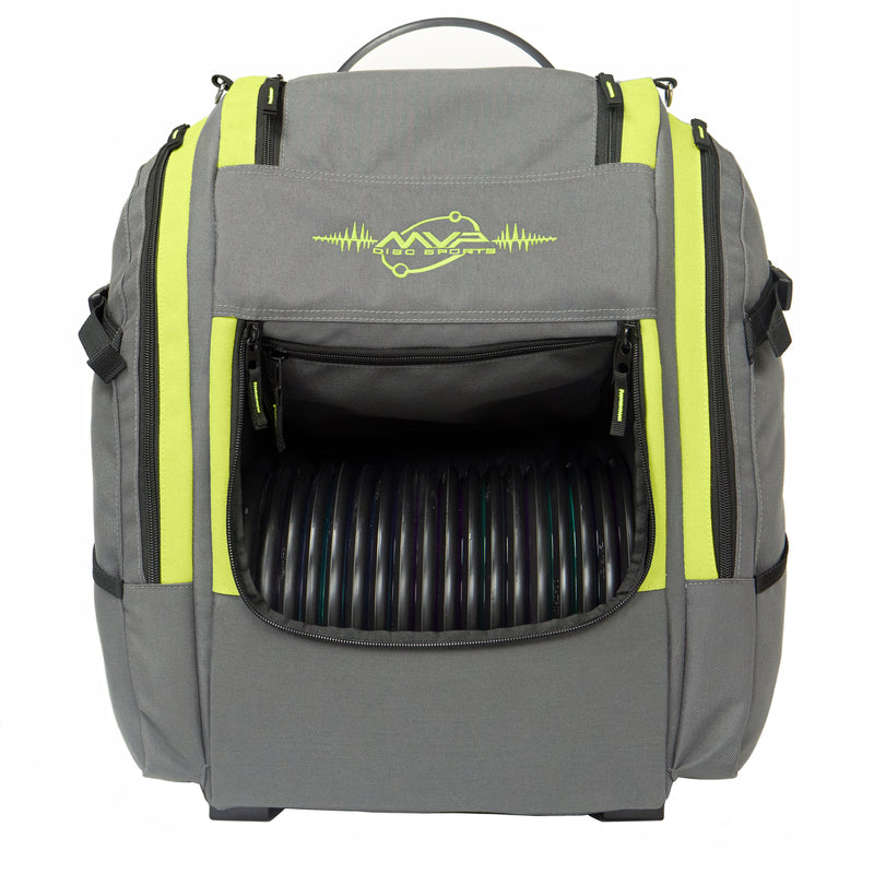 MVP Voyager Pro V2 Disc Golf Backpack Bag - 1010 Discs